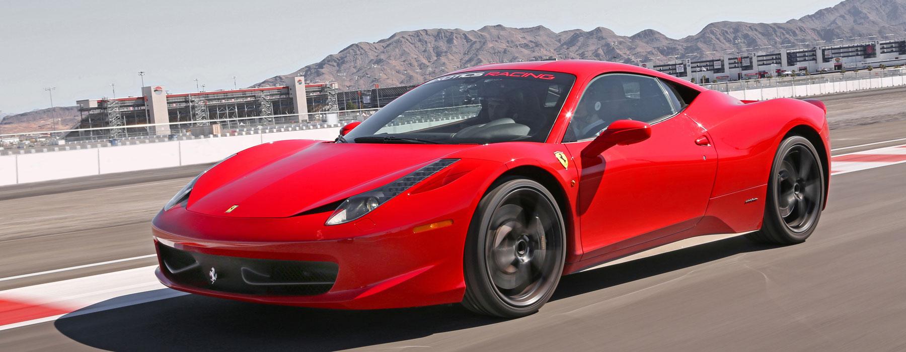 Drive a Ferrari 458 Italia On a Racetrack at Exotics Racing