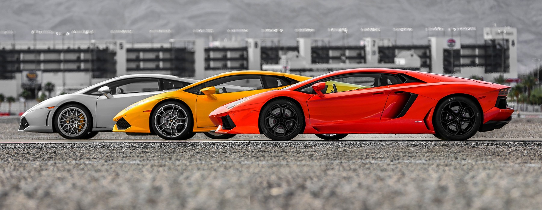 drive a lamborghini supercar on a professional racetrack with