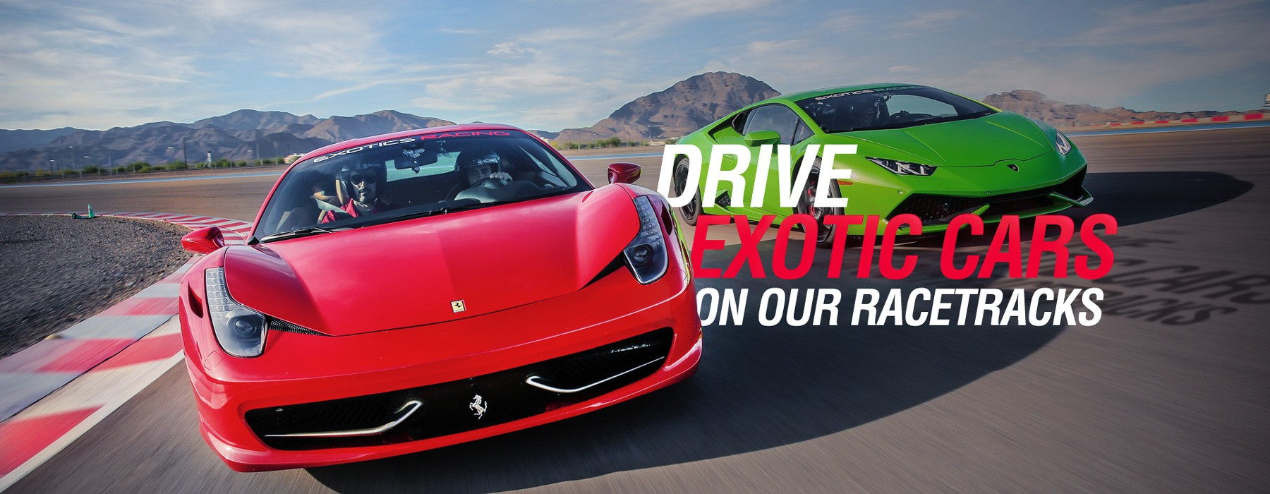 Drive Exotics Cars on a Racetrack